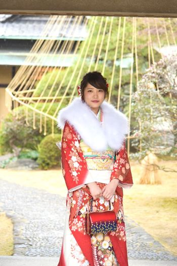 Kimono Smiling Outdoors Traditional Clothing Beauty Young Adult People Only Women Fashion Young Women Real People Beautiful Woman