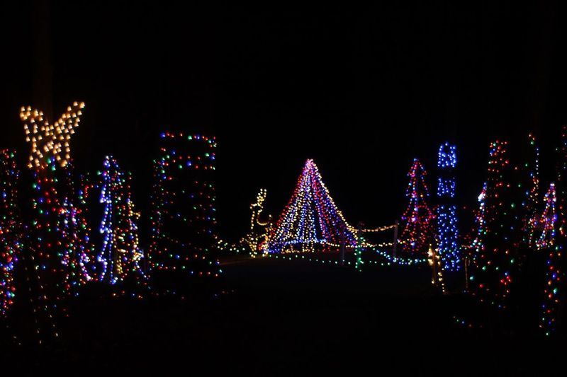 Rocky ridge, York, P.A. Dec 2018. Wide view of the Festival of Lights Christmas display. The display brings in thousands of tourists every year and includes a chance to meet with Santa. National Park Events Travel Tourism Attraction På York Light Display Rocky Ridge Festival Of Lights Illuminated Night Decoration Sky Copy Space Clear Sky Lighting Equipment Christmas Celebration Multi Colored Christmas Decoration Christmas Lights Glowing No People Light Holiday Electricity  Architecture Dark