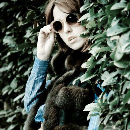 Fashion Fashionshooting  Blogger Fur vogue sun green