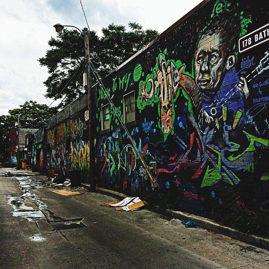 Grafitti Toronto Back Alleys IPhoneography