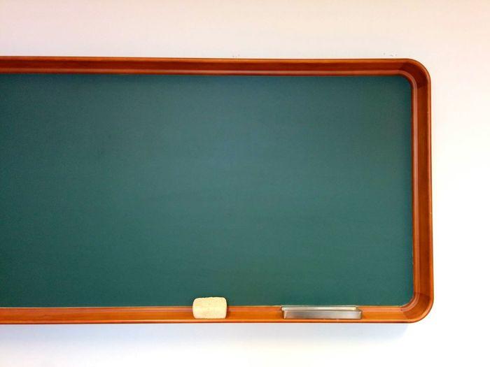Blackboard Against White Background