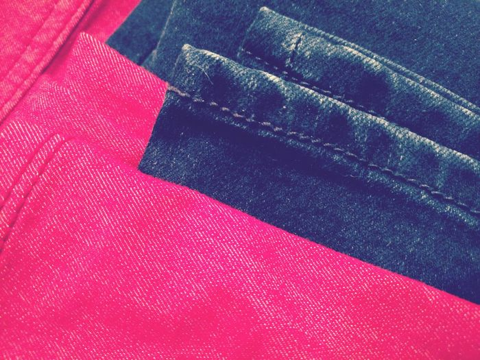Close-up of red fabric