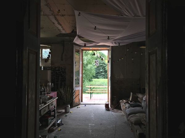 After the party Architecture Built Structure Entrance Indoors  Building Door Day No People Damaged Abandoned Bad Condition Run-down Doorway