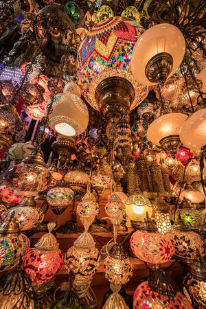 Turkey Turkinstagram Travel Travel Destinations Istanbul City Cityscape Street Streetphotography Istanbul Turkey Light Turkish Lamp Electric Lamp Decoration Lighting Equipment Market Illuminated Indoors  Collection Multi Colored Low Angle View