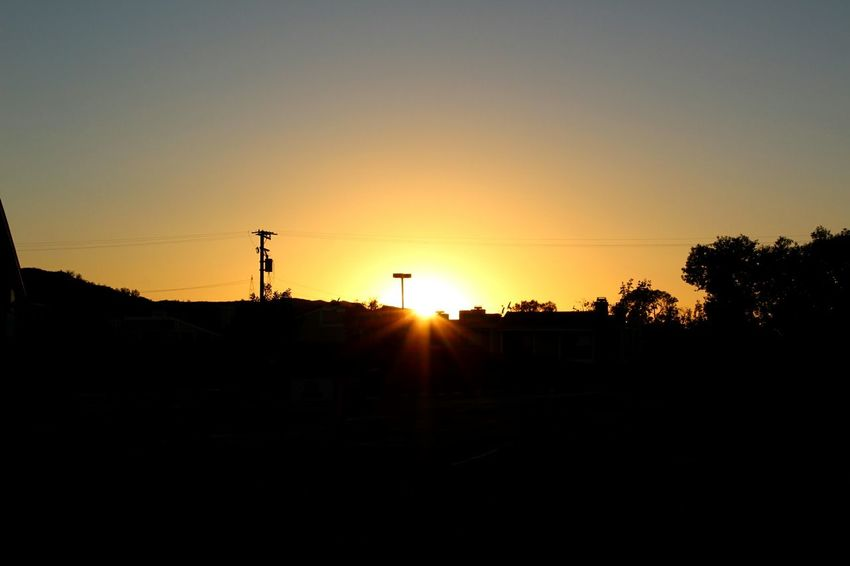Sunset Silhouette Horizontal Outdoors Sky Tree Parking Lot In The Distance Westcoast_exposures My View Pic Of The Day Orange Color Taking Pictures Captures