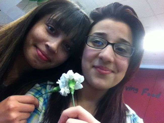 Sissy Me and our flowers <3