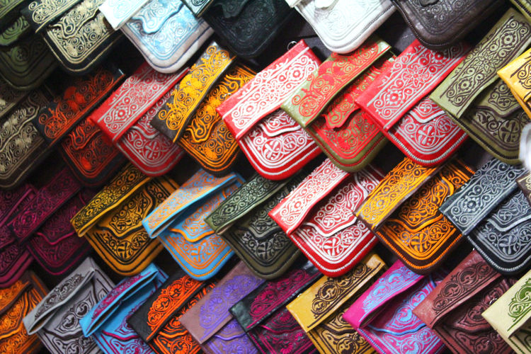 Full frame shot of multi colored souvenirs