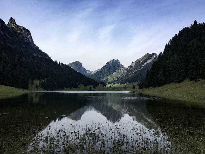 Mountain Nature Sky Reflection Mountain Range Beauty In Nature Lake Landscape Scenics Water No People Day Outdoors Tranquil Scene