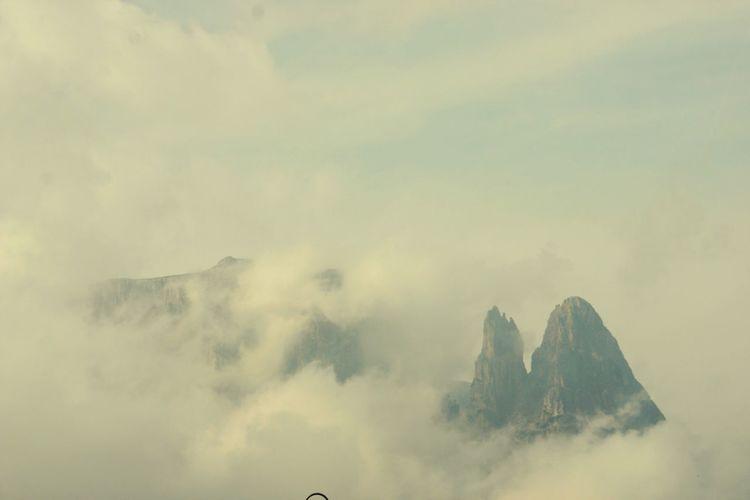 Santner Spitze Dolomites, Italy Cloud Mountain