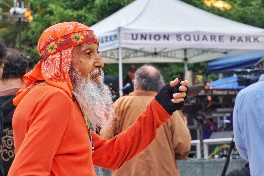 The Dancer Union Square Park Dancer Hippie Orange Beard Old Man Older Man