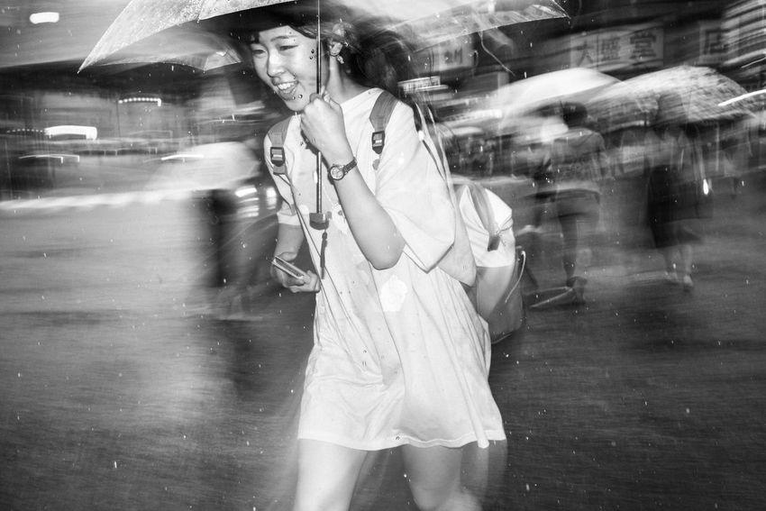 Rainy day-Shibuya, Tokyo, Japan, 2017 Blackandwhite Streetphotography The Street Photographer - 2018 EyeEm Awards