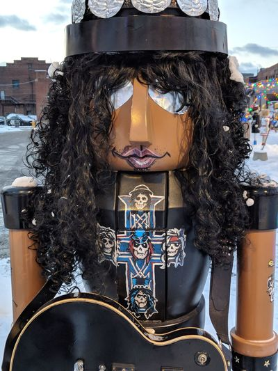 Rock on... Rock N Roll Heavy Metal Rockstar Slash  Nutcrackers Nutcracker Guns N' Roses EyeEm Selects Business Finance And Industry Arts Culture And Entertainment Outdoors Day Close-up Adult Sky One Person