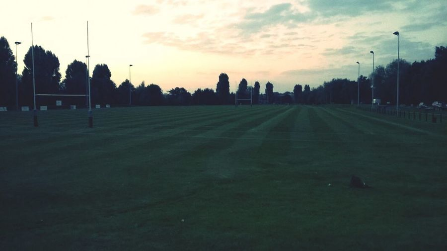 Pitches looking immaculate for this season. Rugby Sport Fitness Training First Eyeem Photo
