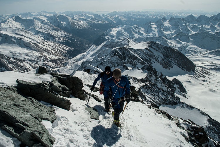 Adults Only Adventure Challenge Climbing Courage Day Full Length Grossglockner Highest Peak Of Austria Hiking Landscape Mountain Mountain Range Mountaineering One Man Only One Person Only Men Outdoors Peak People Ridge Rock - Object Scenics Snow Steep