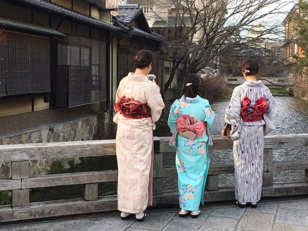 The Street Photographer - 2017 EyeEm Awards Culture And Tradition Japan Photography Kimono Lifestyles Friendship Togetherness Young Adult Women Enjoyment Rear View People Happiness Adult Multi Colored Art Is Everywhere Architecture