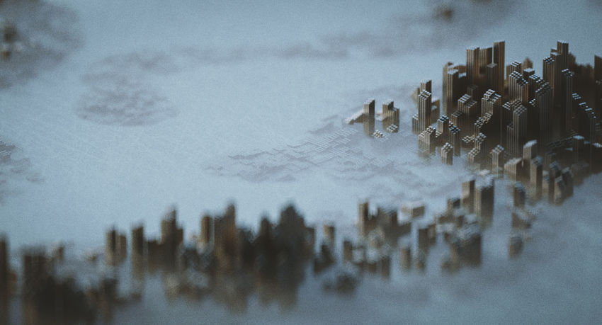 Pins Cityscape Fog Geography Haze Landscape Moody Pins Still Life Water