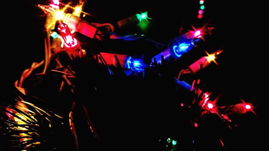Christmas Lights Lights Celebration Night Illuminated Nightlife Multi Colored
