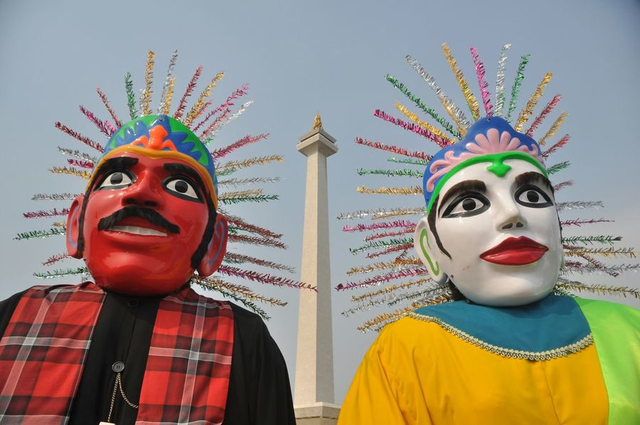 ondel-ondel, giant puppets from Jakarta Ondel-ondel Betawi Jakarta Tradition Culture Puppets INDONESIA