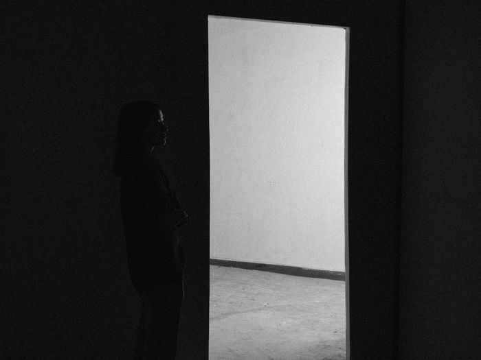 Hallway Indoors  Indoors  Interior Views One Person Space Exploration Standing Standing Alone In The Dar Woman Standing In The Da Welcome To Black The Secret Spaces