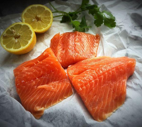 Close-up of salmon fish
