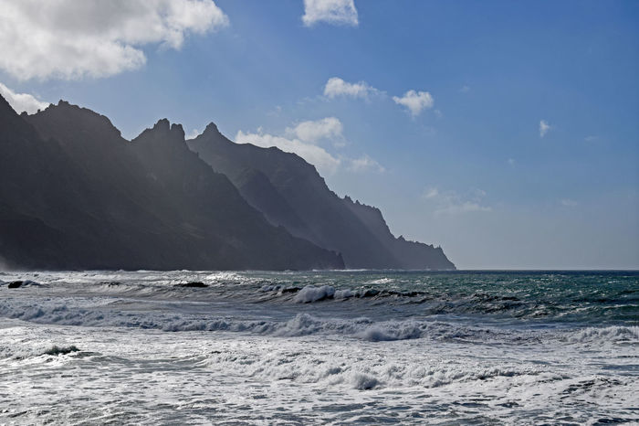 On the beach of Taganana in the northeast of the island of Tenerife -Am Strand von Taganana im Nordosten der Insel Teneriffa, Canary Islands Beauty In Nature Day Horizon Over Water Iceberg Nature No People Outdoors Scenics Sea Sky Taganana Tenerife Tenerife Island Teneriffa Tranquility Water Waterfront