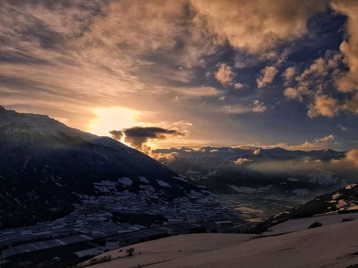 Snow Sunset Cloud - Sky Nature Sky Dramatic Sky Landscape Beauty In Nature No People Shades Of Winter EyeEmNewHere