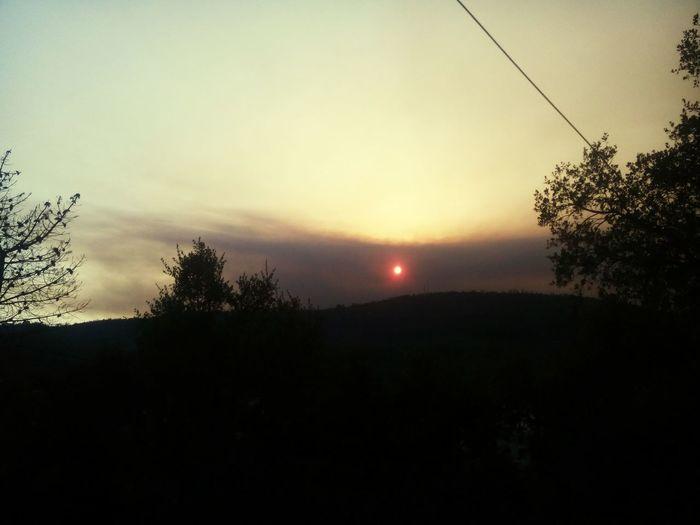 Sun in the smoke Smoke Sun Fire ! Portugal