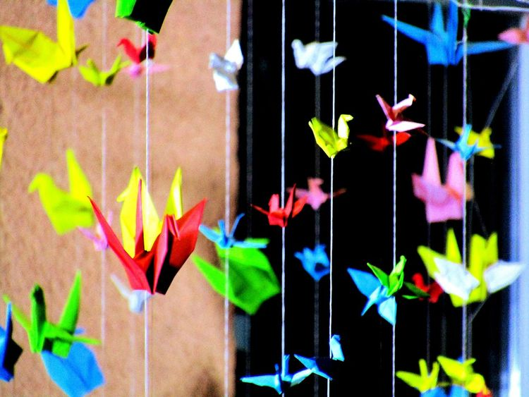 Colour Of Life Paper Bird Decoration Colorful Flying Paperbirds From My Point Of View Eye4photography  Eyeemcollection Artphotography Abstract