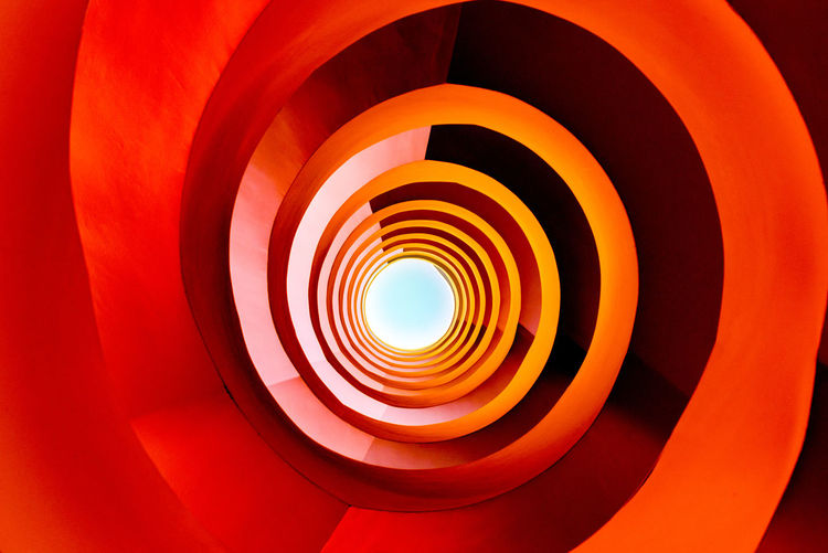 Abstract Abstract Photography Architecture Backgrounds Built Structure Close-up Cologne Concentric Day EyeEmNewHere Germany Indoors  Media Center No People Red Color Spiral Staircase Art Is Everywhere The Architect - 2017 EyeEm Awards BYOPaper!
