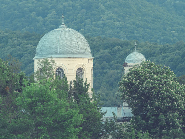 Veliki Preslav church in the forest. Church Church Tower Place Of Worship Spirituality Architecture Built Structure Church Architecture Church Towers Day Dome Forest Forest Photography High Angle View No People Outdoors Place Of Worship Religion Religious Architecture Tree