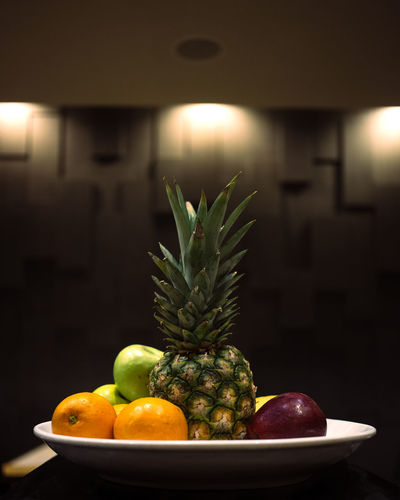 Close-up of fruits on table