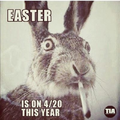 So Easter and 4/20 go hand and hand this year.