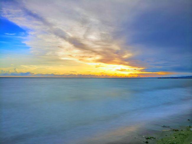 horizon.. Sunset Sea Sky Landscape Cloud - Sky