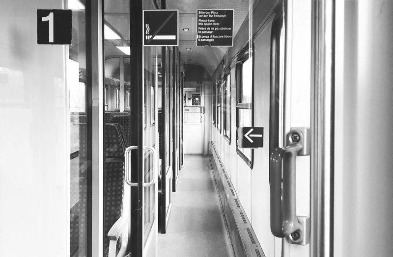 Regional Train RB XXXXX. Train Train Ride Black And White Monochrome Travelling Travel In Between Places Deutsche Bahn Empty Places First Class