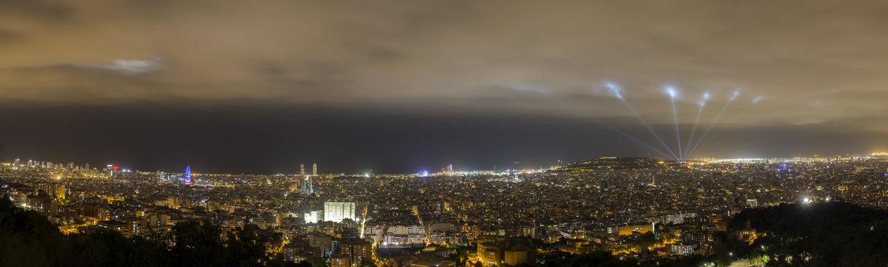 Barcelona Skyline at night Barcelona Catalonia Catalunya City Cityscape Night Lights Nightphotography Panorama Panoramic Panoramic View Skyline Catalunyaexperience Long Exposure Night