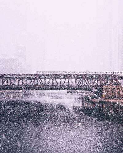 Built Structure No People Architecture Bridge - Man Made Structure Winter EyeEm Best Shots Chicago Snow Lake Effect