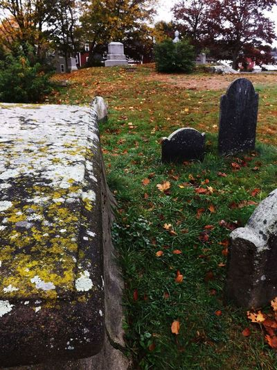 Another shot from Old Burial hill in Salem Tombstone Nature Graveyard Outdoors Miles Away Salem, Ma. Oldburialhill Cemetery Cemetery Photography