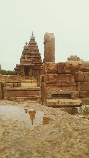 Mahabalipuram, India Shore Temple Reflection Protected Monument Rainy Days Stone Sculpture Neighborhood Map