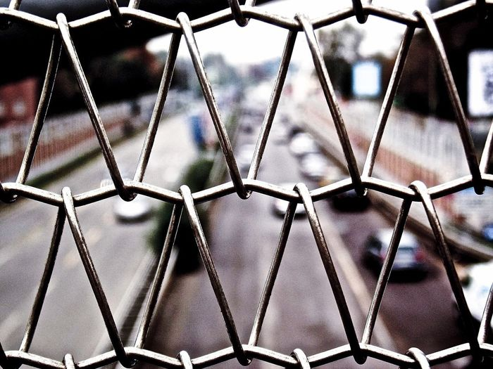 Cage Bridge Cage Metal Pattern Full Frame Close-up Backgrounds No People Indoors