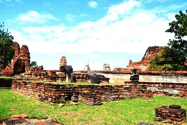Ruins Temple Head Without A Body Headless Ayutthaya Tailand Antique
