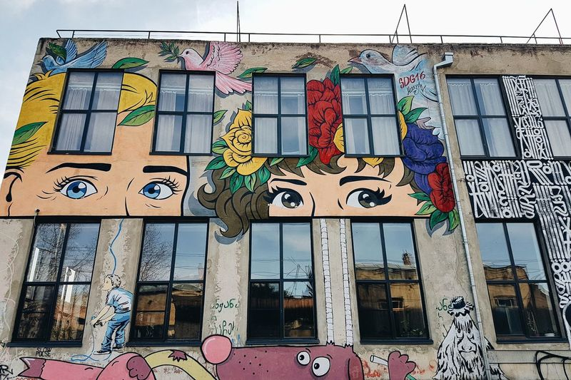 Eyes of Street Art Illustration Picture Travel Photography The Graphic City Creativity Graffiti Built Structure Architecture Multi Colored Art And Craft Day Building Exterior Window Outdoors No People Sky Close-up Love Yourself