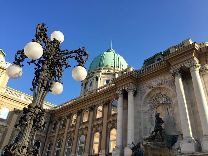 Architecture Blue Budapest Budapest, Hungary Building Exterior Built Structure City Clear Sky Hungary Instabudapest Instatravel Low Angle View Outdoors Palazzo Reale Royal Palace Travel Destinations