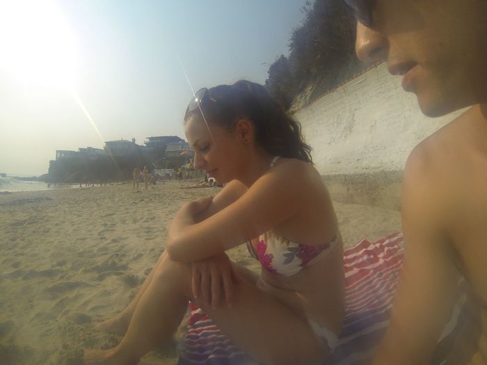 Real People Sea Water Leisure Activity Lifestyles Young Adult Beach
