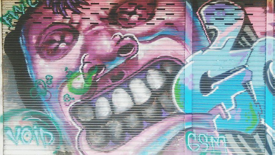 Street art on shutter door Street Art On The Walls Graffiti Bangkok Graffiti & Streetart Street Bangkok Thailand Street Art Bangkok Street Art/grafitti Modern Building Colorful Multi Colored Art Door Graffiti Graffiti Art