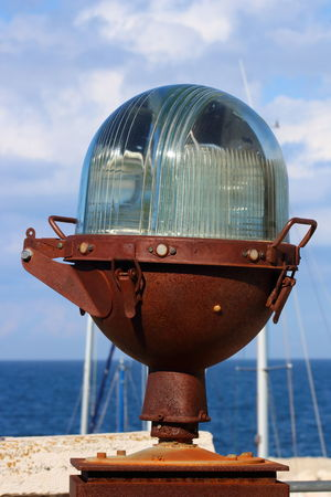 Close-up Cloud - Sky Day Horizon Over Water Metal Moored Nature Nautical Vessel No People Outdoors Sea Sky Water