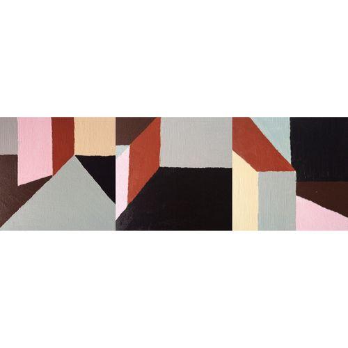 Composition I, II and III, 2016 Multi Colored Geometric Shape Design LINE Painting My Art My Work Acrylic Concept Modern Art Minimalism