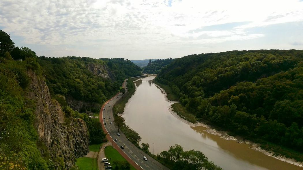 Bridged cliffs Tree Landscape Outdoors Day Bristol In The Summer Clifton Clifton Suspension Bridge Cliftonsuspensionbridge England, UK Valley View Valley Gorge River Riverscape Cliffside Cliffs Cliff Road Ravine
