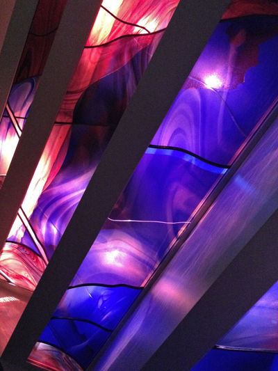 abstract photo of reflective glass Abstract Angles Blue Reflection Design Glass Indoors  Lighting Multicolour Multicoloured No Pepole Red Reflection Reflection Reflections Technology Textile