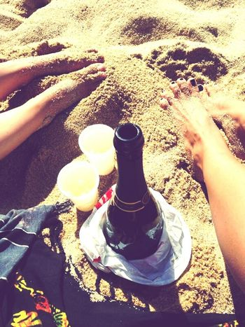 We made a Promise to never get old... The Best Of Me Friends ❤ Girls Champagne Sand Beach Weekend Sea Legs