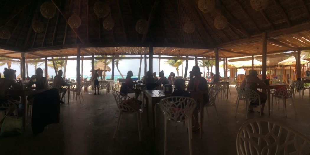 Real People Mexico Cancun Ocean View Beachfront Restaurant Outdoor Restaurant
